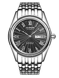 guanqin mens relógios automáticos de auto-liquidação 100m impermeável cristal de safira do relógio calendário semana 42 milímetros de aço
