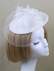 Femme Satin / Plume / Filet Casque-Mariage / Occasion spéciale Chapeau / Voile de cage à oiseaux 1 Pièce