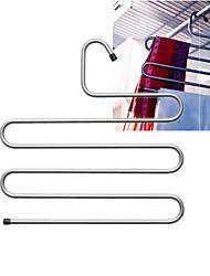 Steel Brallis Clothes Hanger Hold 5 Pants Closet Organizer Scarf Storage