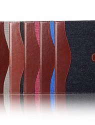 7,9 pouces étui en cuir toile de modèle de couleur mélangée portefeuille avec support pour iPad mini 4 (couleurs assorties)