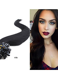 "18""-28"" 1g/strand  100/pack Pre-Bonded Hair Extension Nail Tip Hair Extension Brazilian Human Hair Extensions"