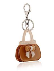 Lucky Bowknot Acrylic Bag Shape Keychain Best Gift for Girlfriend Women Favorite