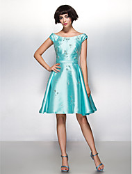 TS Couture® Cocktail Party Dress A-line Scoop Knee-length Satin with Beading