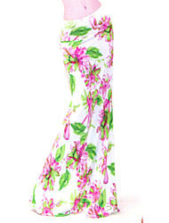 Women's Floral / Print Multi-color Skirts , Sexy / Print / Party / Maxi Maxi      LS