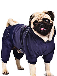 Dog Coat / Hoodie / Clothes/Jumpsuit Blue / Purple / Black / Pink Dog Clothes Winter / Spring/Fall Hearts Casual/Daily / Keep Warm