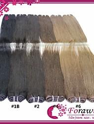 "100g/Bundle 18""-24"" #1B #4 Brown #27 #613 Blonde Human Hair Extensions straight Human Hair Weave"