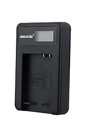 Camera Battery Charger with Screen for Canon NB-10L Black