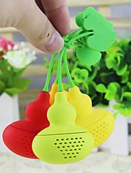 Silicone Calabash Shaped Diffuser Infuser Loose Tea Leaf Filter Strainer (Random Color)