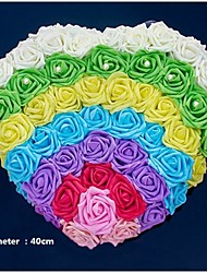 Décorations ( Rose / Vert , Satin / Satin élastique ) Roses