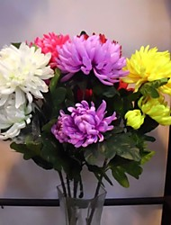 A Bunch Of 3 Head Of  Polyester / Plastic Daisies Artificial Flowers(1PC)