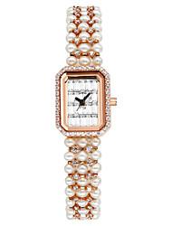 mesa de pulsera de perlas reloj reloj de cuarzo edición plaza de han de vodoy®lady