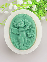 Angel baby Shaped  Soap Molds Mooncake Mould Fondant Cake Chocolate Silicone Mold, Decoration Tools Bakeware