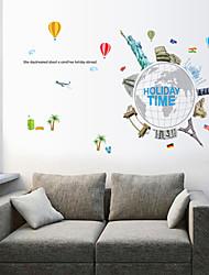 stickers muraux de style de décalques muraux de vacances temps de PVC autocollants