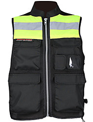 Motorcycle Adjustable Reflective Visibility  Base Vest With Pocket And Zipper