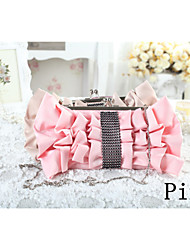 Women Polyester Event/Party / Wedding Evening Bag Pink / Purple / Red / Black / Almond