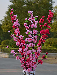 Polyester Prune Fleurs artificielles