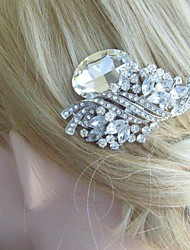 Bridal Hair Accessory Silver-tone Rhinestone Weddidng Hair Comb Flower Hair Comb Bridal Hair Comb Wedding Headpiece
