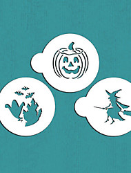 Halloween Cookie Stencil Tops,Cookie Cake Top Stencil Template Set,Cupcake Decorating Tool, Baking Stencil,ST-556