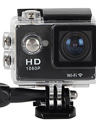 "Waterproof 2"" LCD CMOS 12MP 170 Degree Wide Angle 1080P Wi-Fi Sports Camera (Assorted Color)"