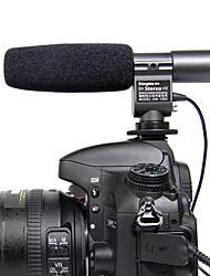 kingma mic micrófono estéreo para Canon T3i T2i 7d 5d 60d Nikon D3s DSLR D7000 k7 dv k5