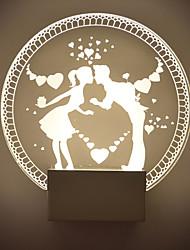 LED / Ampoule incluse Flush Mount appliques murales, Moderne/Contemporain Métal