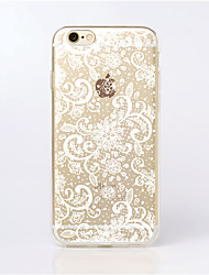 For iPhone 5 Case Transparent / Pattern Case Back Cover Case Lace Printing Soft TPU iPhone SE/5s/5