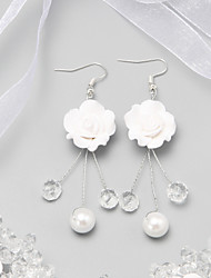 Drop Earrings Women's Imitation Pearl/Alloy Earring Crystal/Imitation Pearl