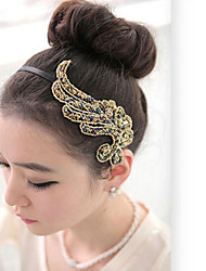 Phoenix Cloth Art Hair Hoop Hair Accessories Angel Wings Hair Headwear PND Tail-On Wide Band