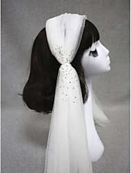 Wedding Veil One-tier Shoulder Veils Cut Edge