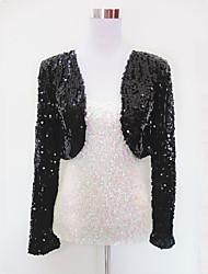 Dames - Uitgaanskleding - Kleding Bovenlichaam ( Zwart / Goud / Rood / Zilver , Polyester / Organza , Pailletten )