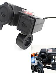 Dual USB Power Port Motorcycle Waterproof Lighter Charger W/ Bracket For Honda