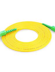 shengwei® sc (APC) -SC (APC) simplex fibra de modo único cabo de correção de 3m / 5m / 10m