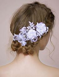 Mulheres Renda Capacete-Casamento Flores 1 Peça