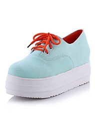 Women's Shoes  Platform Platform/Creepers/Round Toe Fashion Sneakers Casual Black/Blue/White