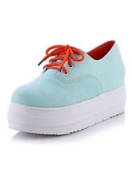 Zapatos de mujer - Plataforma - Plataforma / Creepers / Punta Redonda - Sneakers a la Moda - Casual - Semicuero - Negro / Azul / Blanco