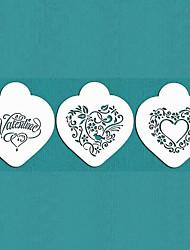 regalo de San Valentín se mi corazón plantilla de galletas fijado para decoración de pasteles, st-670