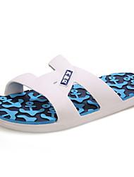 Men's Spring / Summer / Fall / Winter Comfort / Open Toe Rubber Casual Flat Heel Blue / Green / Orange