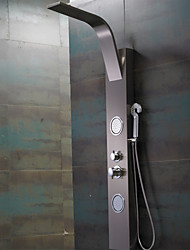Shower Faucet Contemporary Rain Shower / Sidespray / Handshower Included Stainless Steel Nickel Brushed Shower Panel
