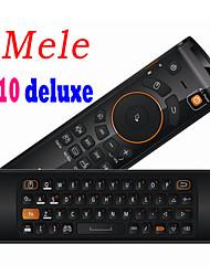 novo mini mele f10 deluxe 2.4GHz voar air mouse 68 controle remoto teclado sem fio chave pc notebook box / / tv para