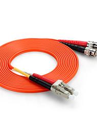 Shengwei® ST(UPC)-LC(UPC) Multimode Double Core Fiber Patch Cord 3M/5M/10M