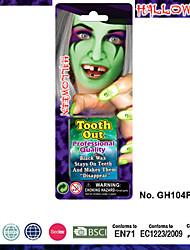 halloween compõem cara de zumbi kit de pintura, dentes podres (luminoso)