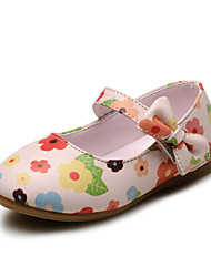 Girls' Shoes Wedding / Outdoor / Dress / Casual Comfort / Round Toe / Closed Toe Leatherette Flats Blue / Beige