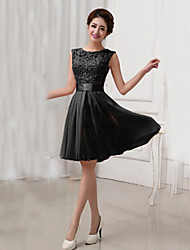 Women's Round Neck Hollow Out Lace Dress