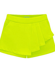 Women's Solid Blue/Black/Yellow Shorts Pants , Casual