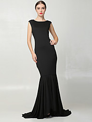 SEXY Women's Solid Color Black Dresses , Vintage / Sexy / Bodycon / Casual Round Sleeveless