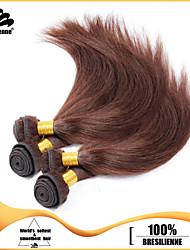 "4Pcs/Lot 8""-28"" Unprocessed Brazilian Virgin Hair Dark Brown Straight Human Hair Weave"