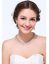 Women's Silver Alloy Imitation Pearl Rhinestone Cubic Zirconia Jewelry Set
