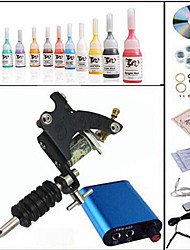 Tattoo Machine Complete Kit Set 1 Guns Machines 10PCS tattoo ink Tattoo kits
