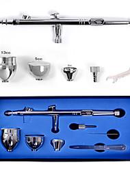 Airbrush Kit 0.3mm Needle Air Brush Spray Gun Body Paint Nail Art Airbrush Painting Makeup Mini Air Compressor