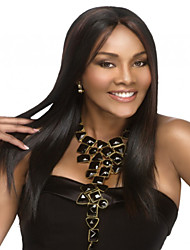 Long Straight Black Color Synthetic Wig